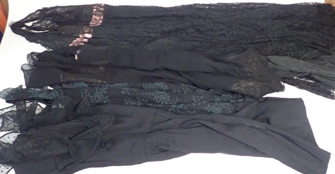 Vintage Black Lace Accent Dress Assortment - 10