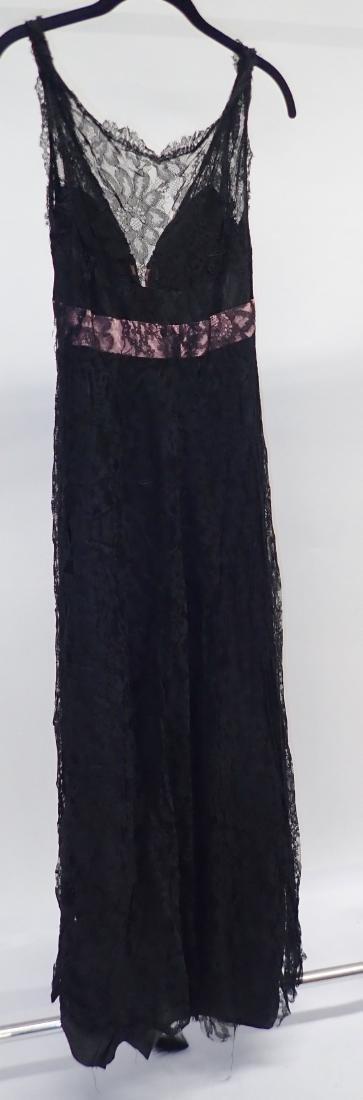 Vintage Black Lace Accent Dress Assortment - 3