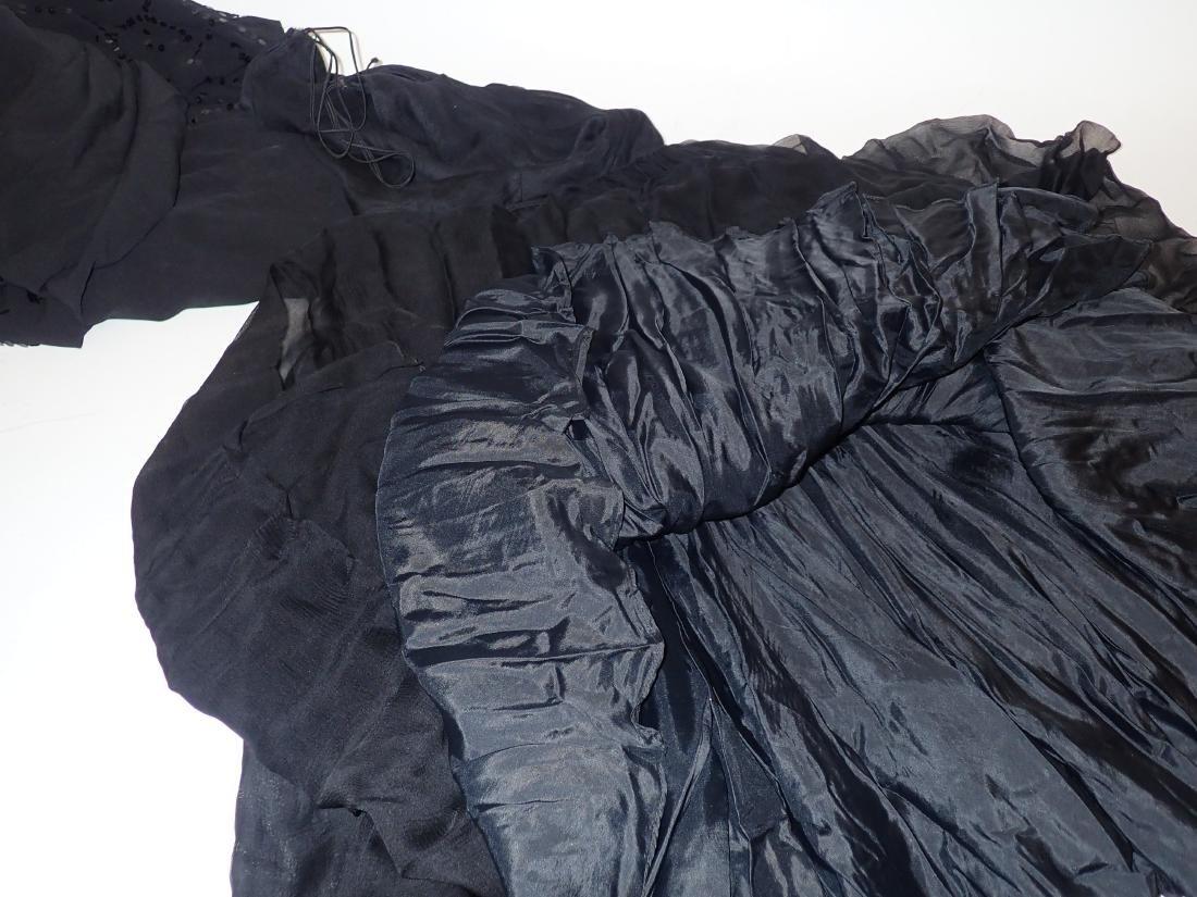 Three Assorted Vintage Black Dresses - 10