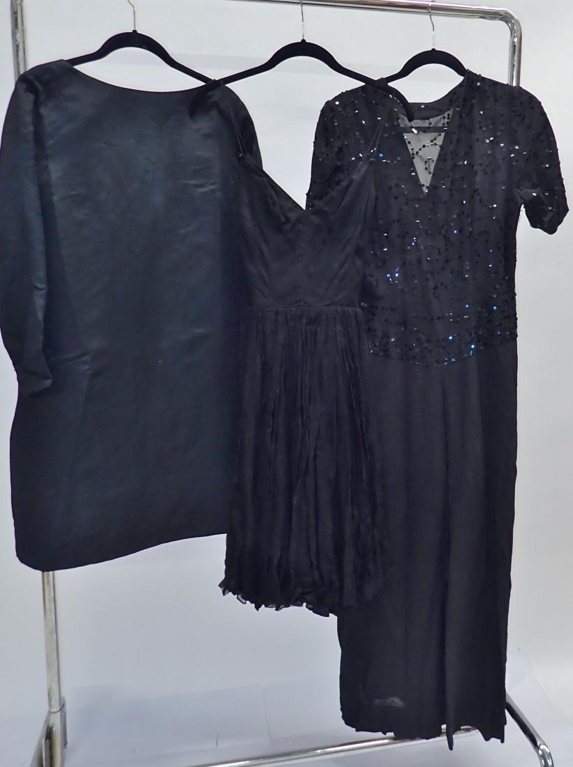 Three Assorted Vintage Black Dresses