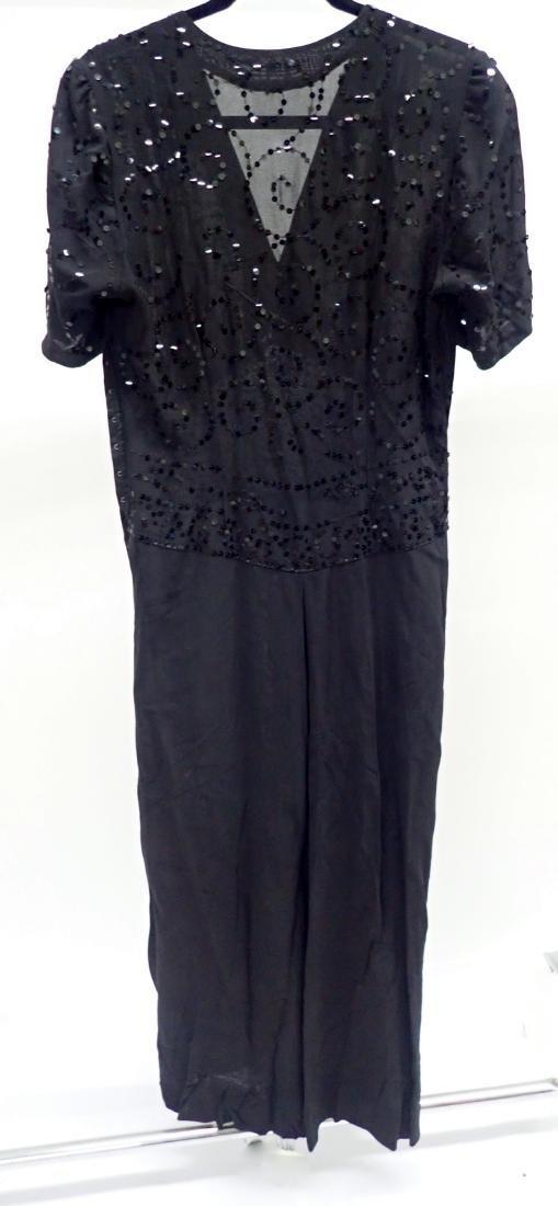 Three Assorted Vintage Black Dresses - 2