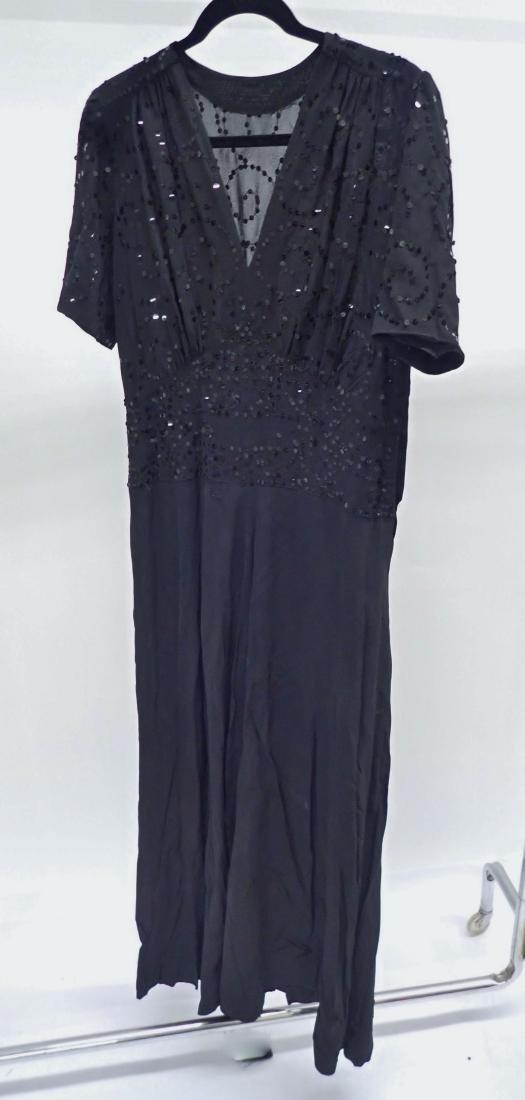 Three Assorted Vintage Black Dresses - 3