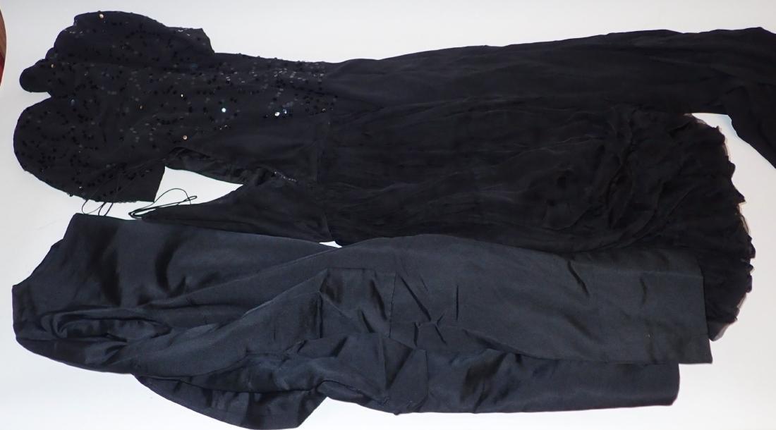 Three Assorted Vintage Black Dresses - 8