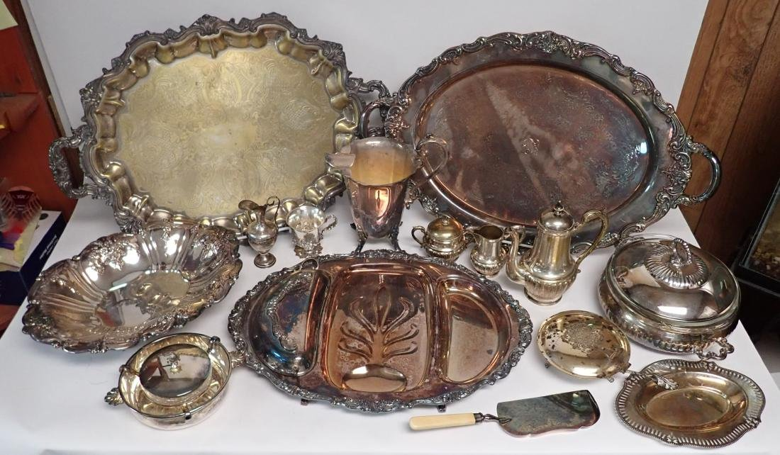 Vintage Silverplate Serving Ware Assortment - 9