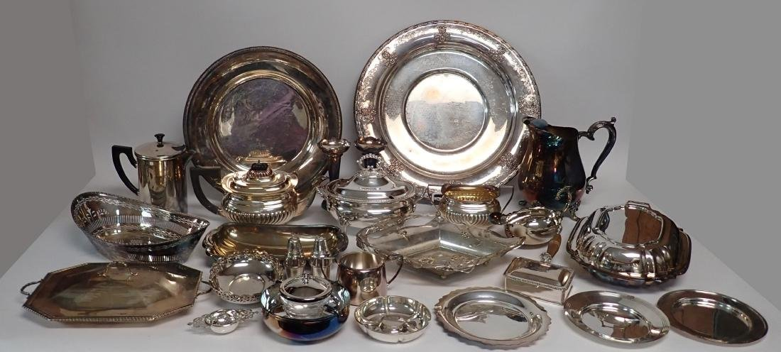 Collection of Vintage Silverplate Serving Ware