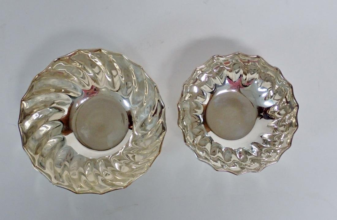Collection of 5 Silver Bowls in Two Patterns - 10