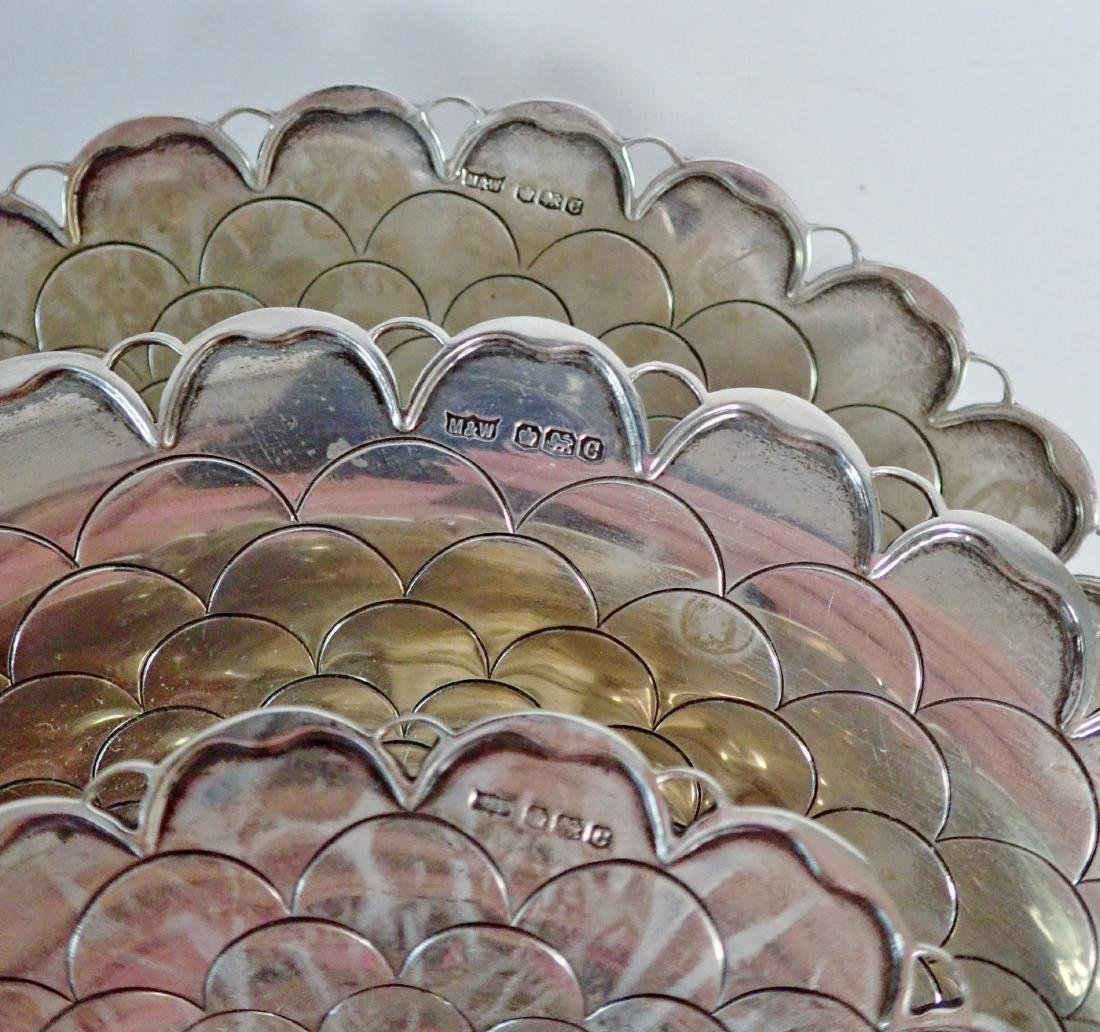 Collection of 5 Silver Bowls in Two Patterns - 5