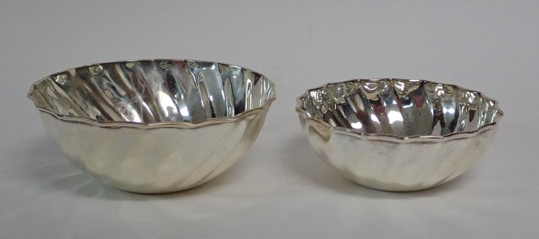 Collection of 5 Silver Bowls in Two Patterns - 9
