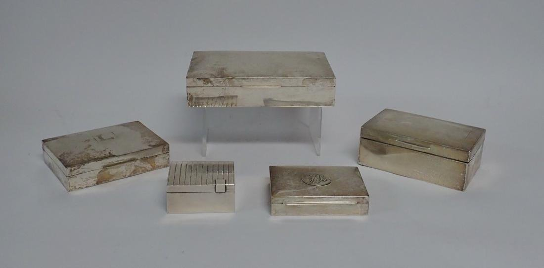 Vintage Silver Cigarette Box Collection