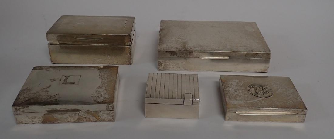 Vintage Silver Cigarette Box Collection - 2