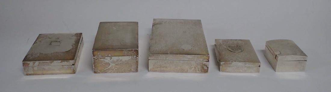 Vintage Silver Cigarette Box Collection - 4