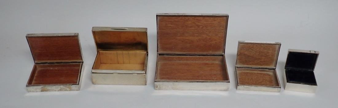 Vintage Silver Cigarette Box Collection - 6