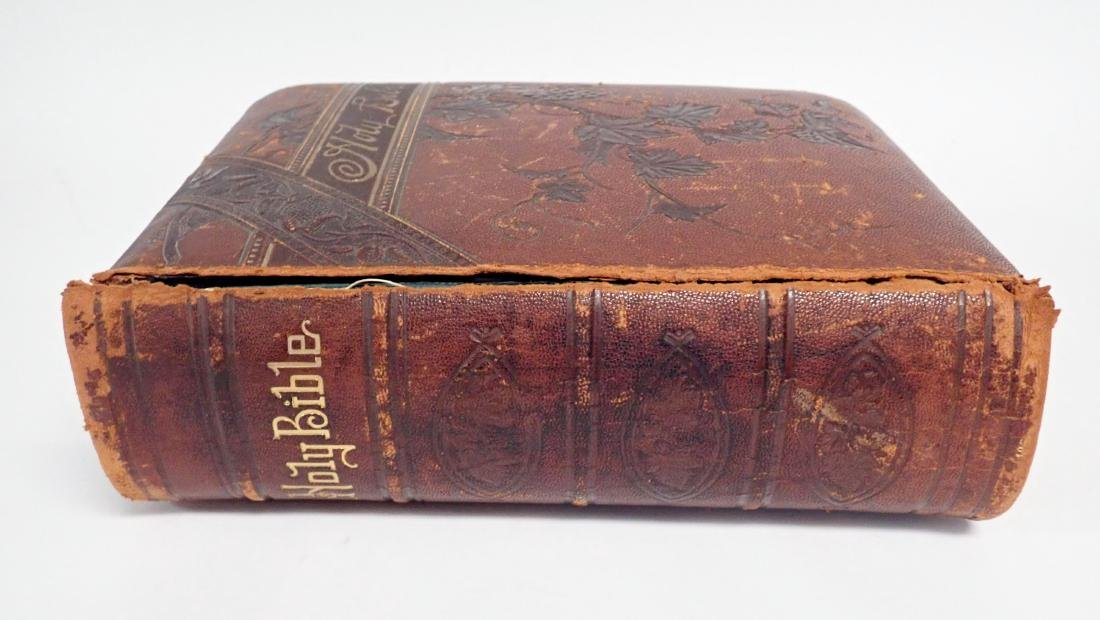 Vintage Leather Bound Bible Gilded Pages