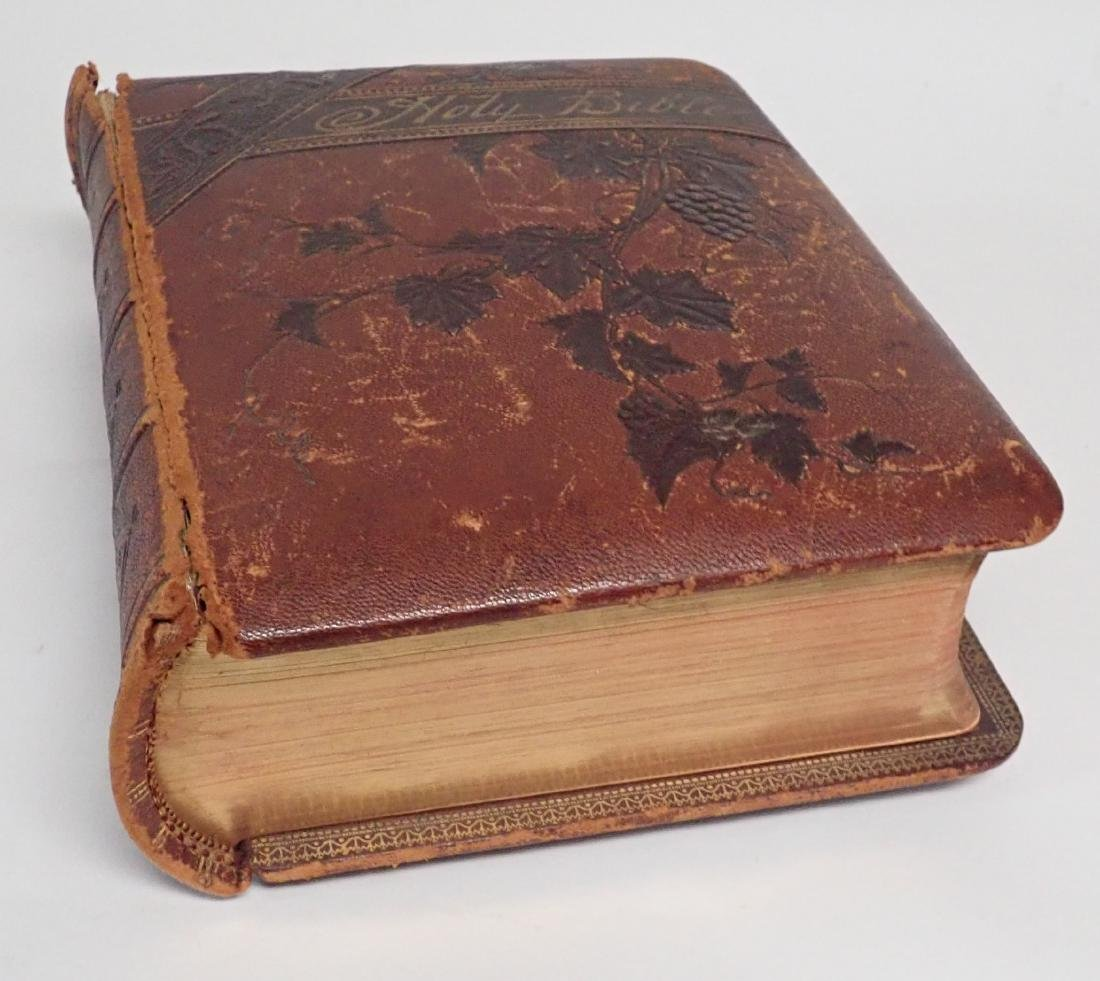 Vintage Leather Bound Bible Gilded Pages - 2