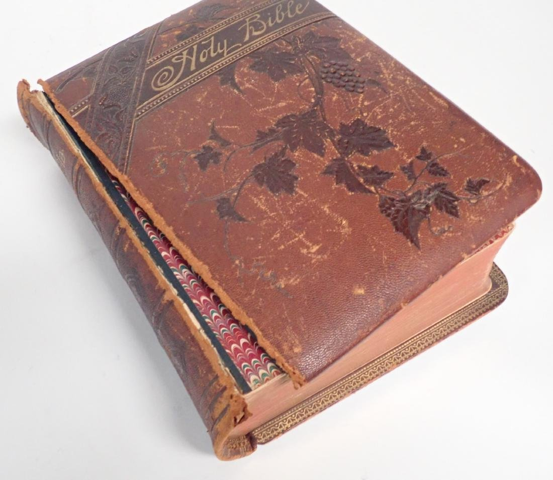 Vintage Leather Bound Bible Gilded Pages - 3