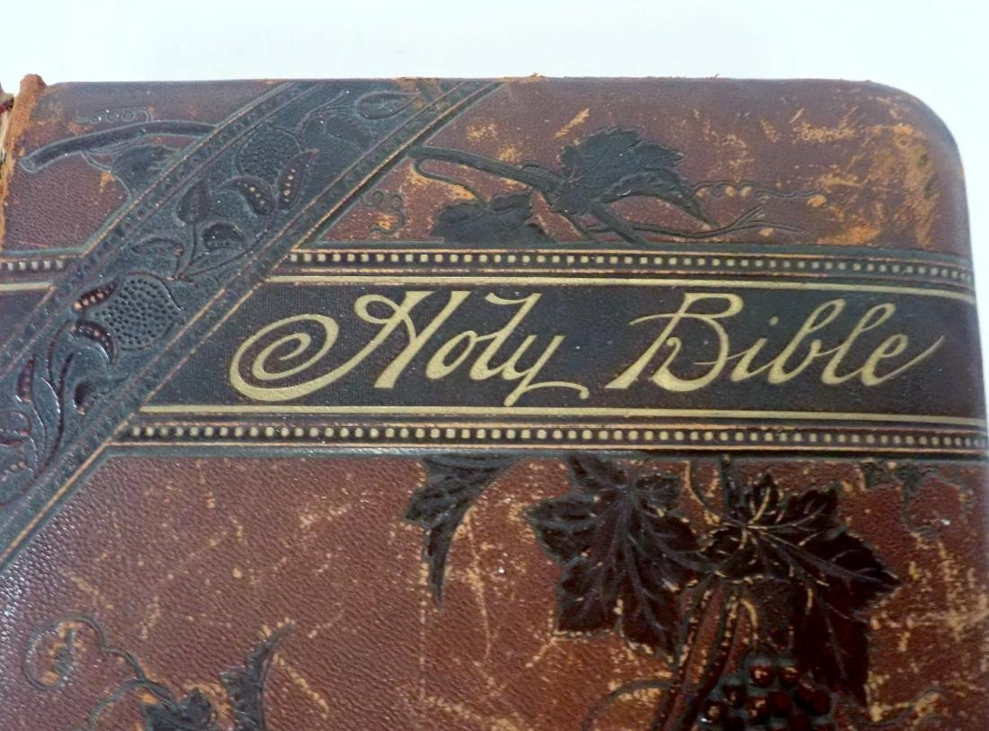 Vintage Leather Bound Bible Gilded Pages - 4
