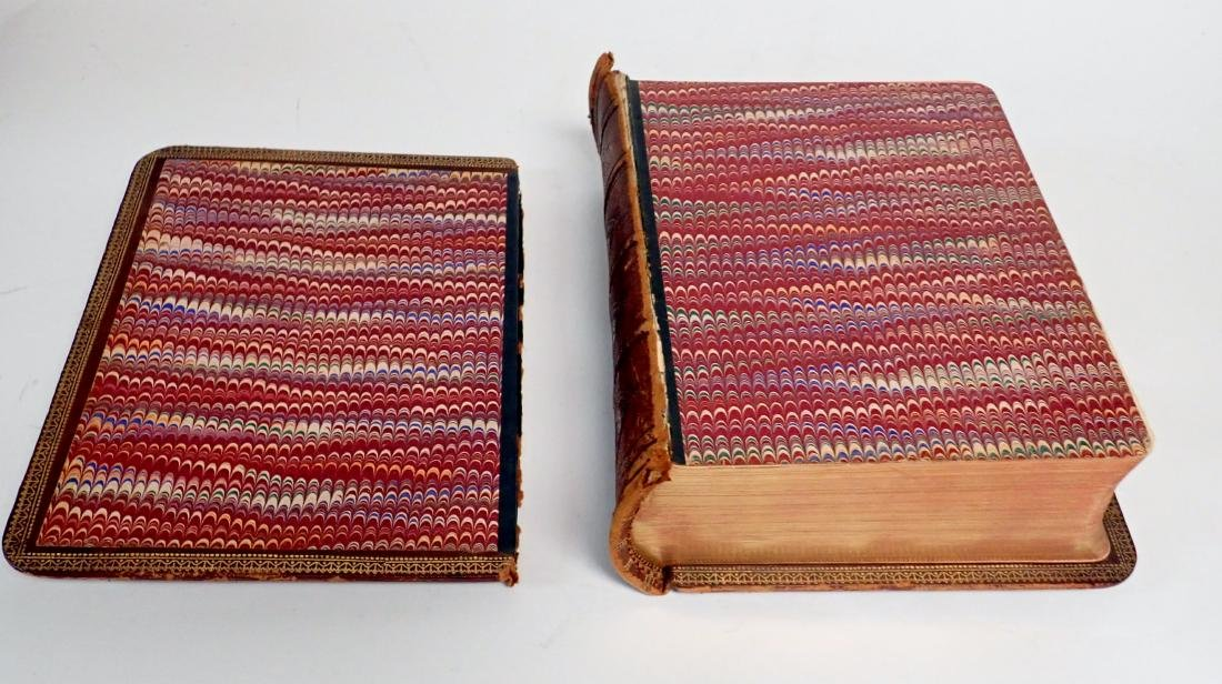 Vintage Leather Bound Bible Gilded Pages - 6