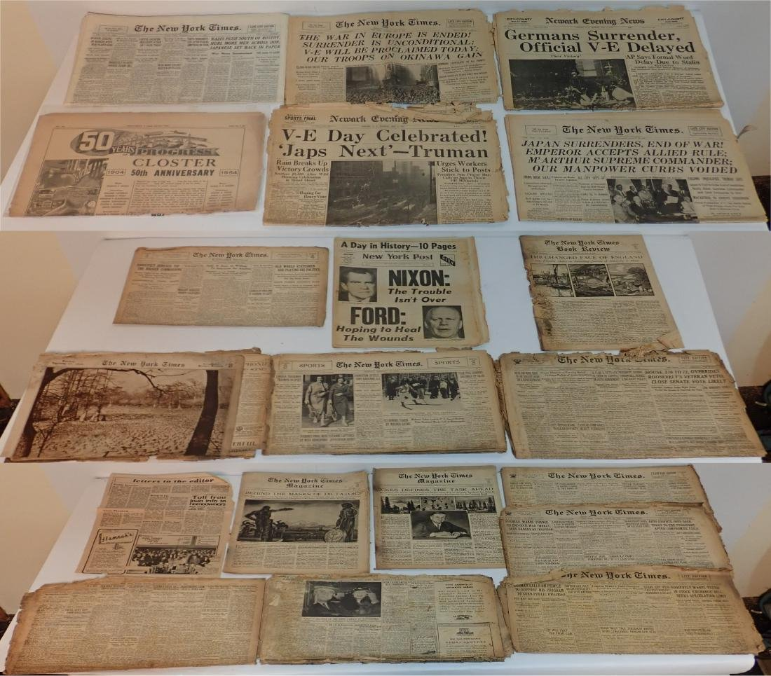 Grouping of Vintage Newspapers (1930's-1970's)