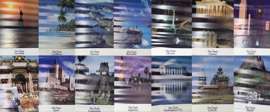 Grouping of Vintage Pan American Airways Posters
