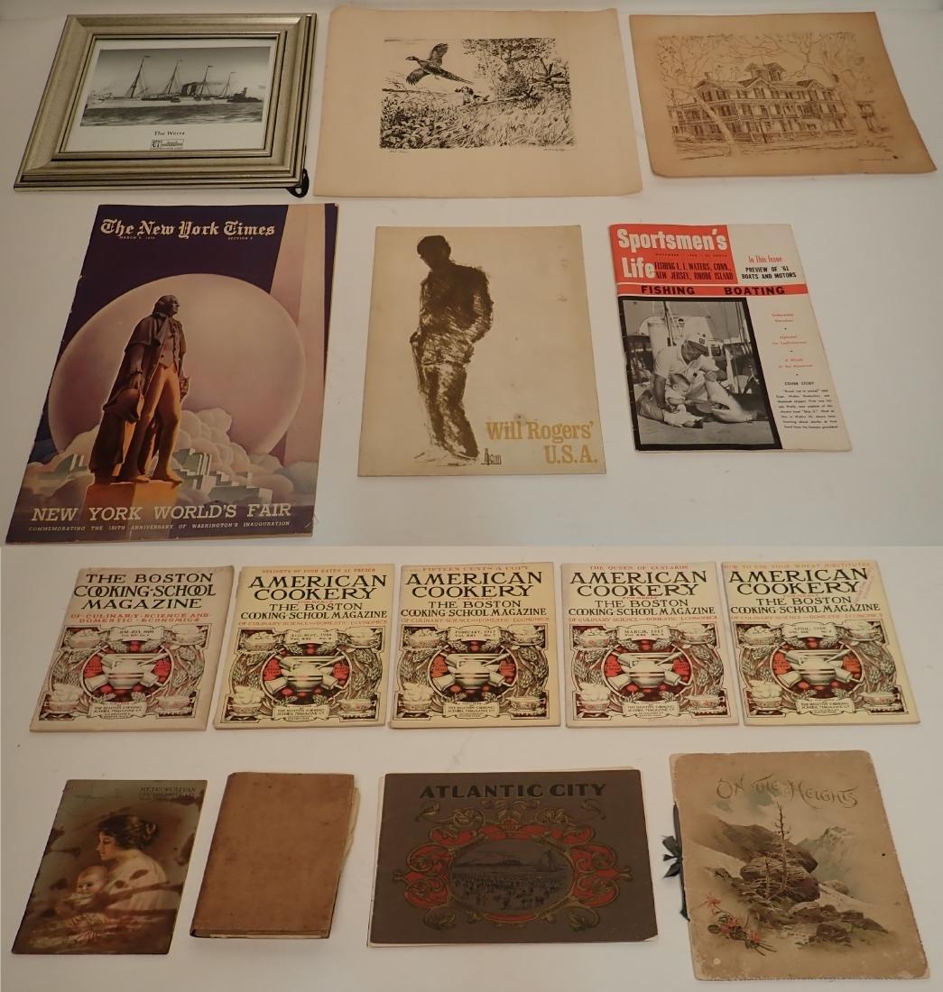 Group of Vintage Printed Material