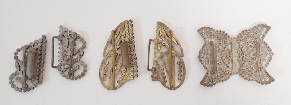 Antique & Vintage French Shoe Buckles - 3