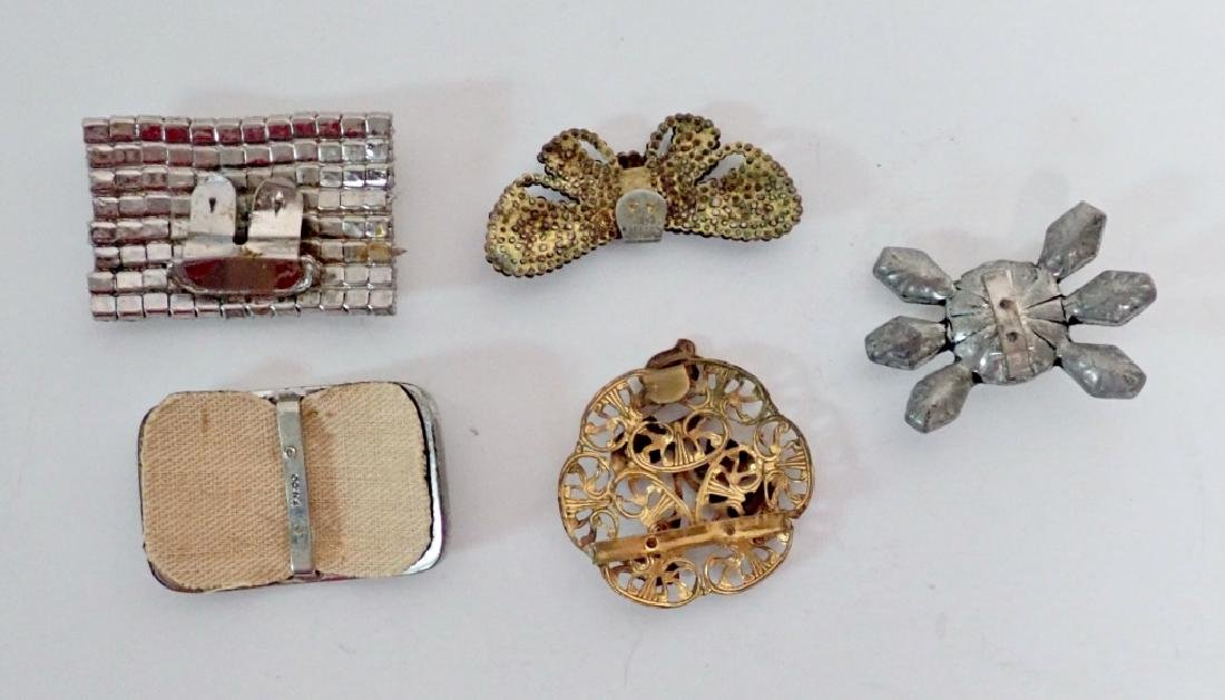 Antique & Vintage French Shoe Buckles - 5