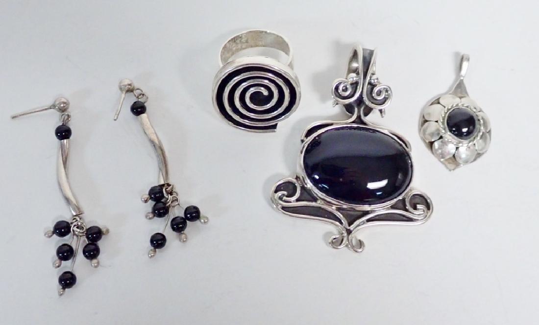 Black Onyx & Silver Jewelry Grouping
