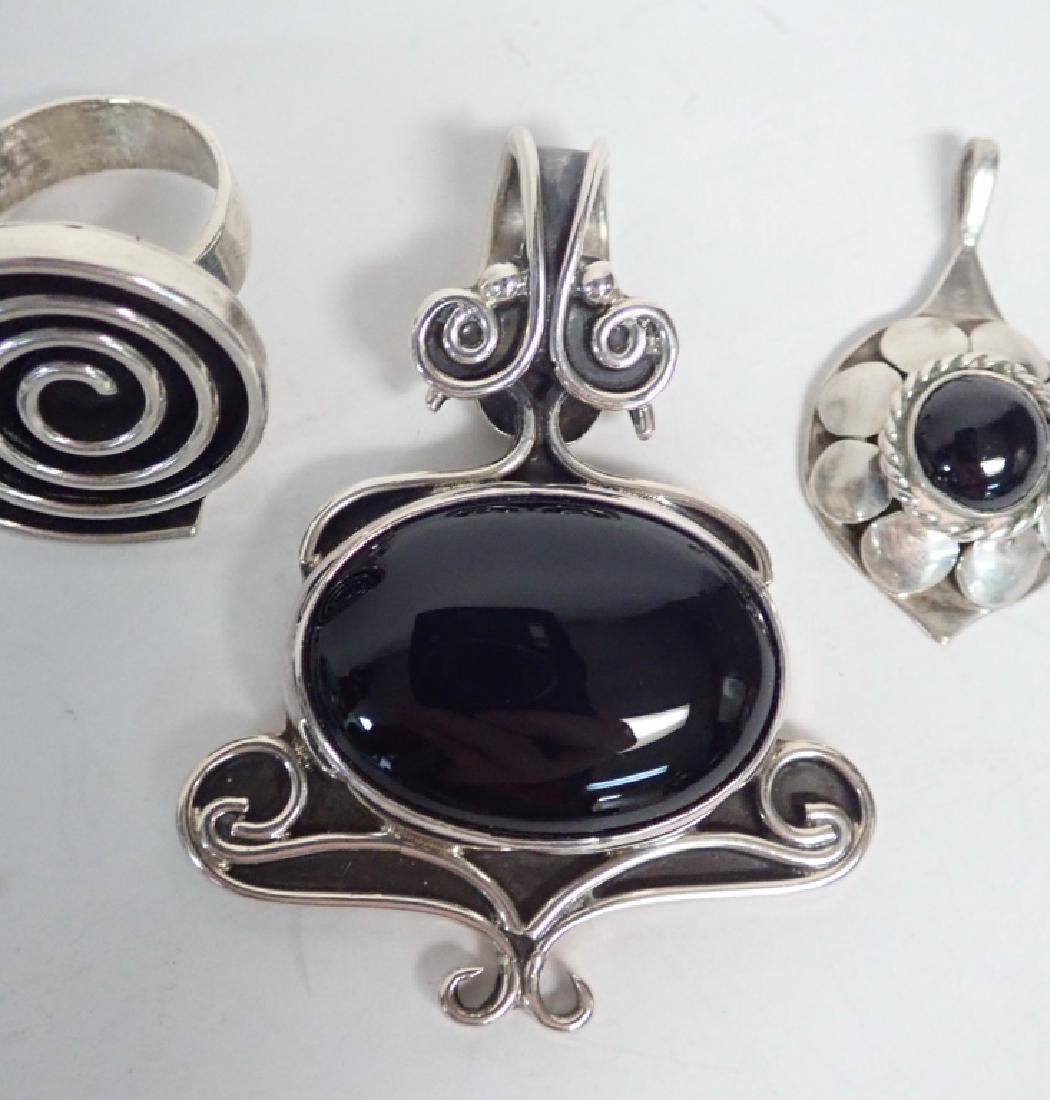 Black Onyx & Silver Jewelry Grouping - 2
