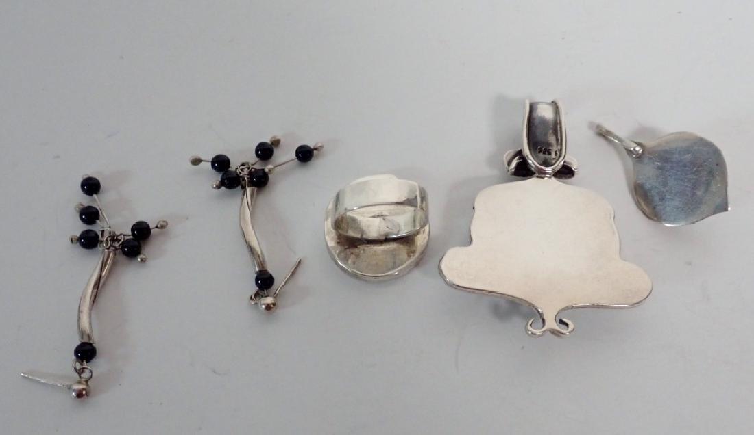 Black Onyx & Silver Jewelry Grouping - 4