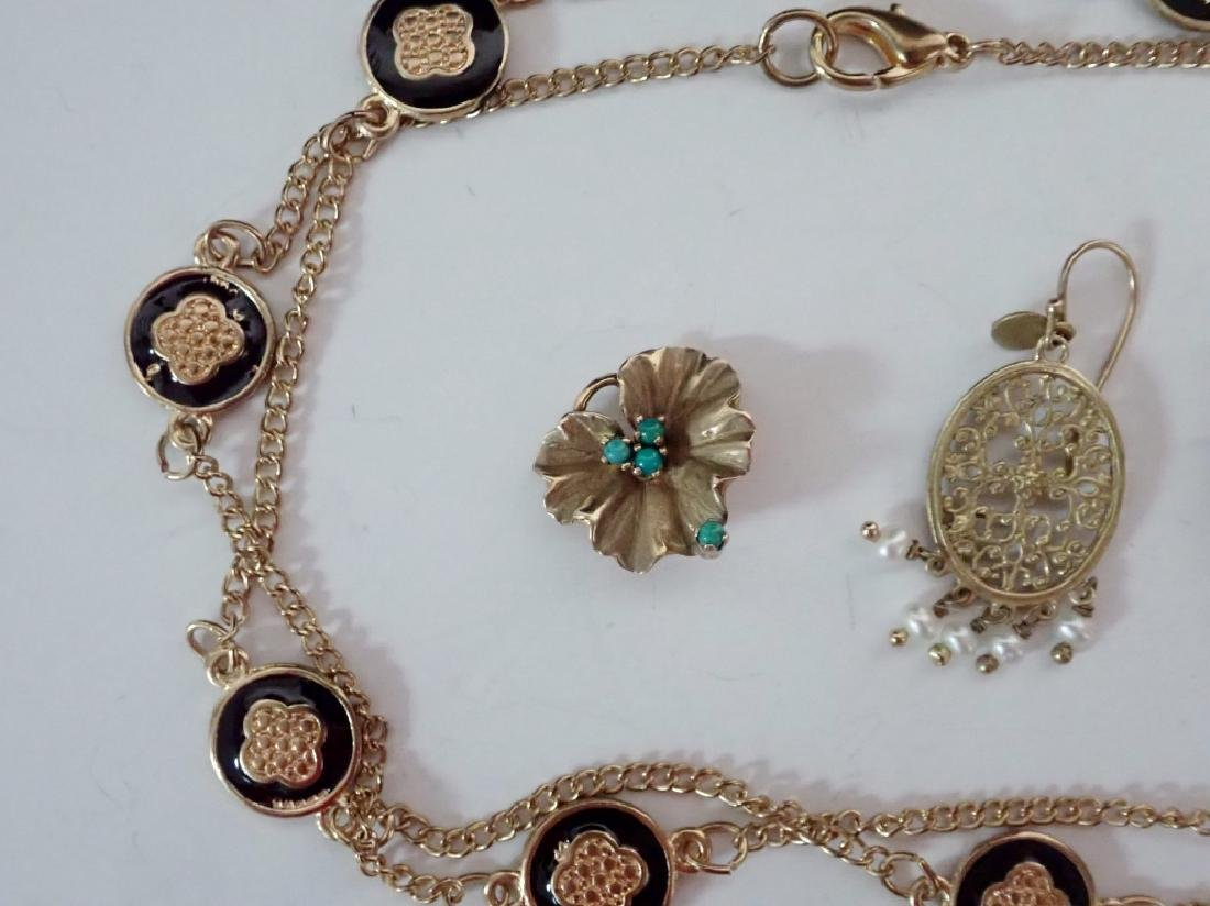 Assortment of Gold & Gold Tone Jewelry - 2