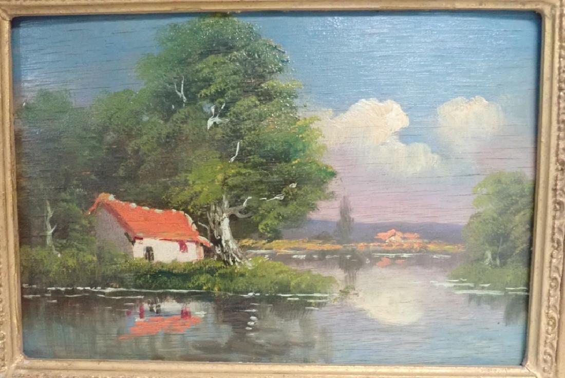 Landscape Oil Painting of Lake Scene - 2