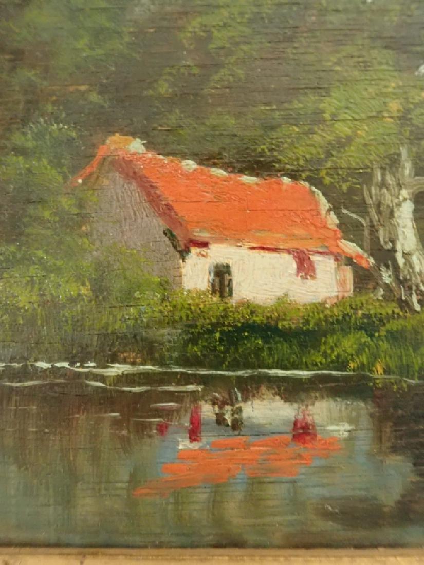 Landscape Oil Painting of Lake Scene - 4