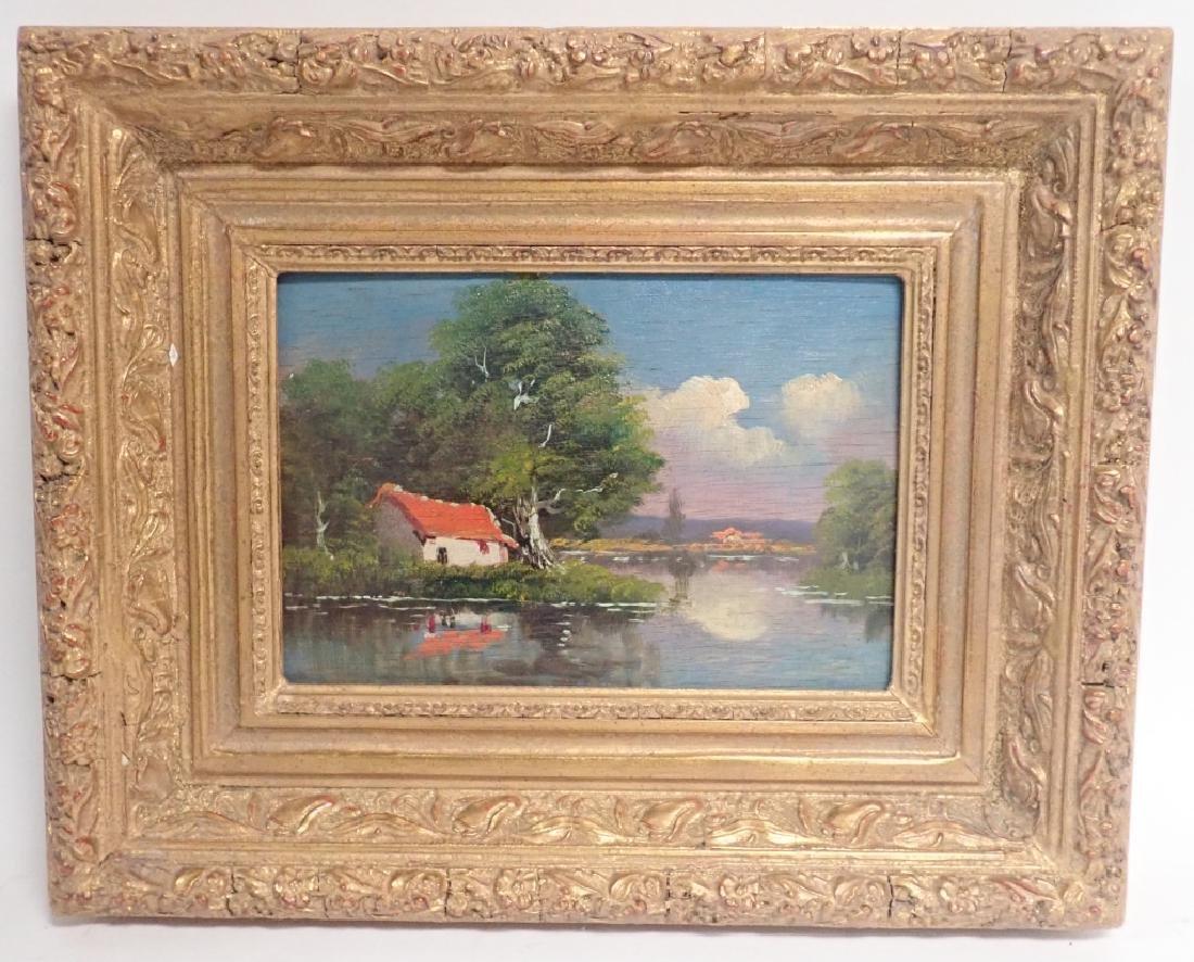 Landscape Oil Painting of Lake Scene - 9
