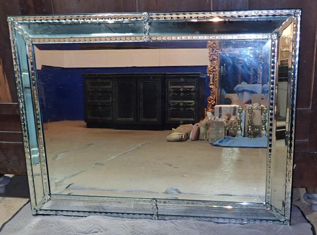 Large Vintage Venetian-Style Wall Mirror - 2