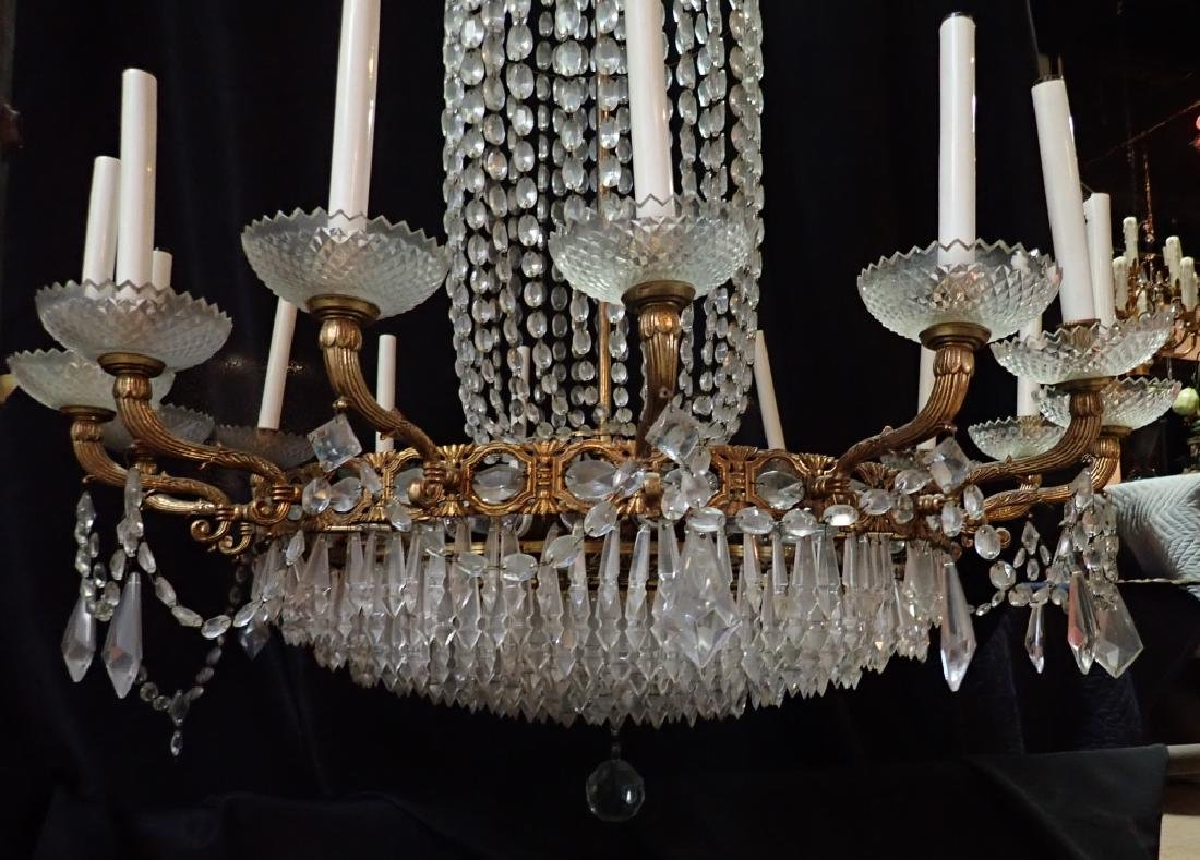 Bronze & Crystal Continental Chandelier - 6
