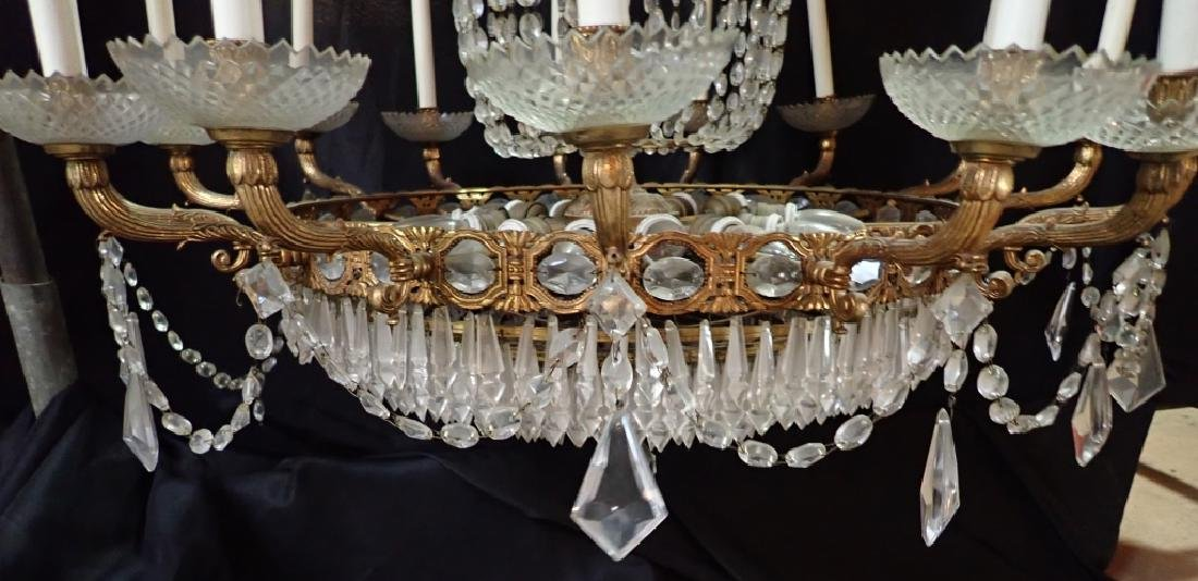 Bronze & Crystal Continental Chandelier - 9
