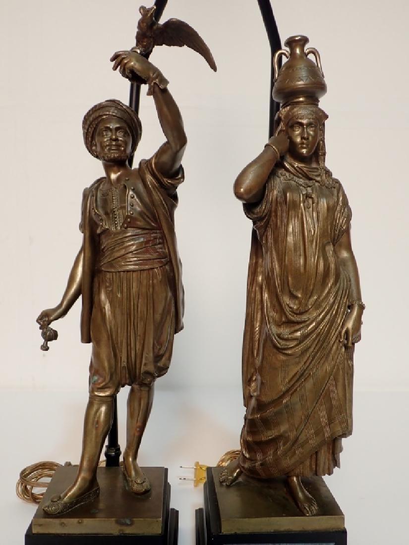 Léon Pilet (1840-1916) Figural Bronze Lamps - 2
