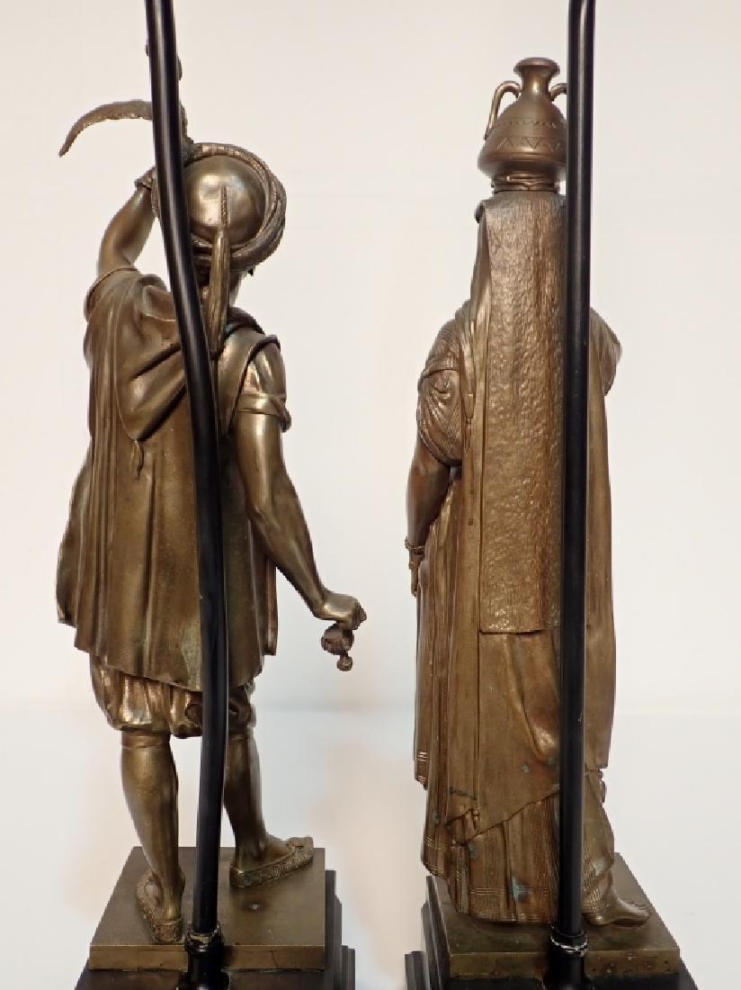 Léon Pilet (1840-1916) Figural Bronze Lamps - 4