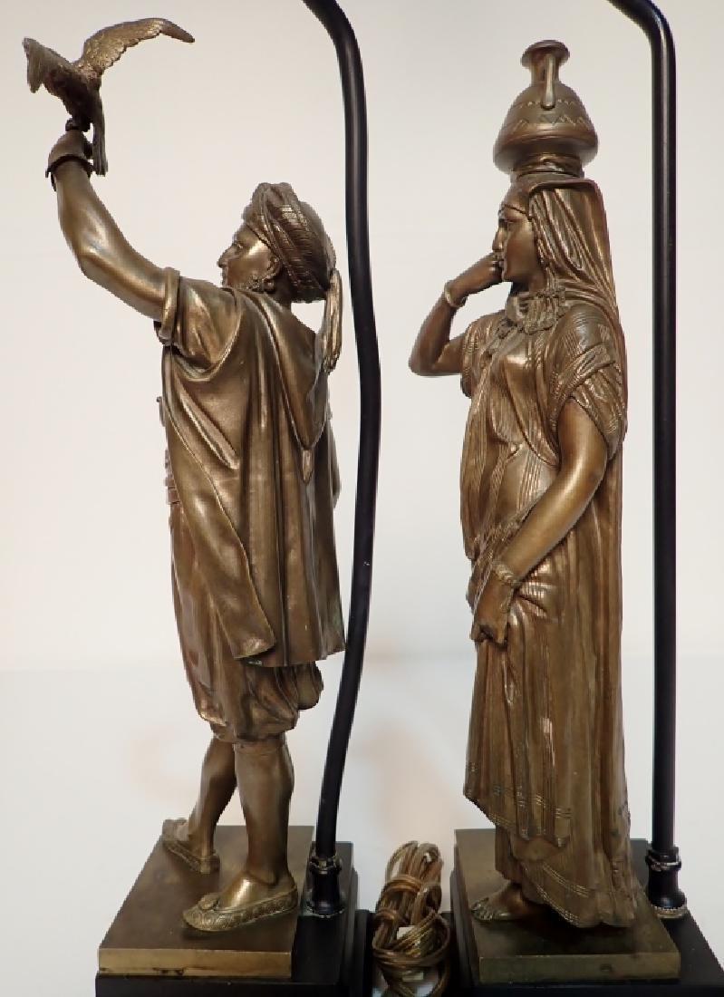 Léon Pilet (1840-1916) Figural Bronze Lamps - 5
