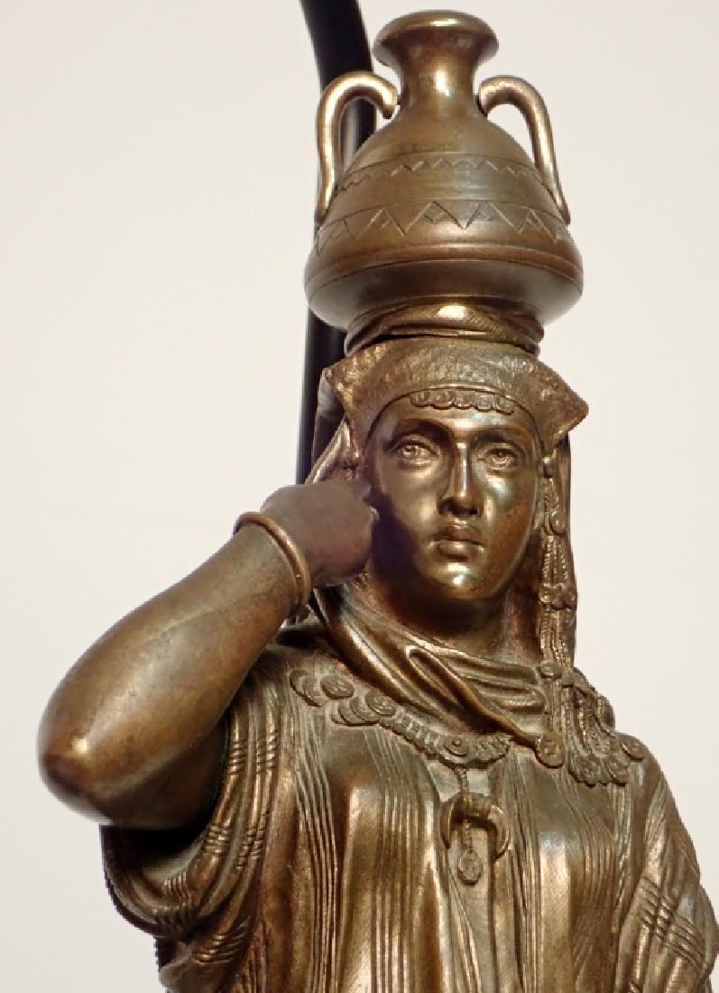 Léon Pilet (1840-1916) Figural Bronze Lamps - 7