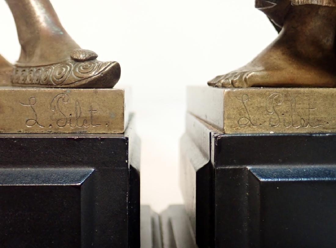 Léon Pilet (1840-1916) Figural Bronze Lamps - 8