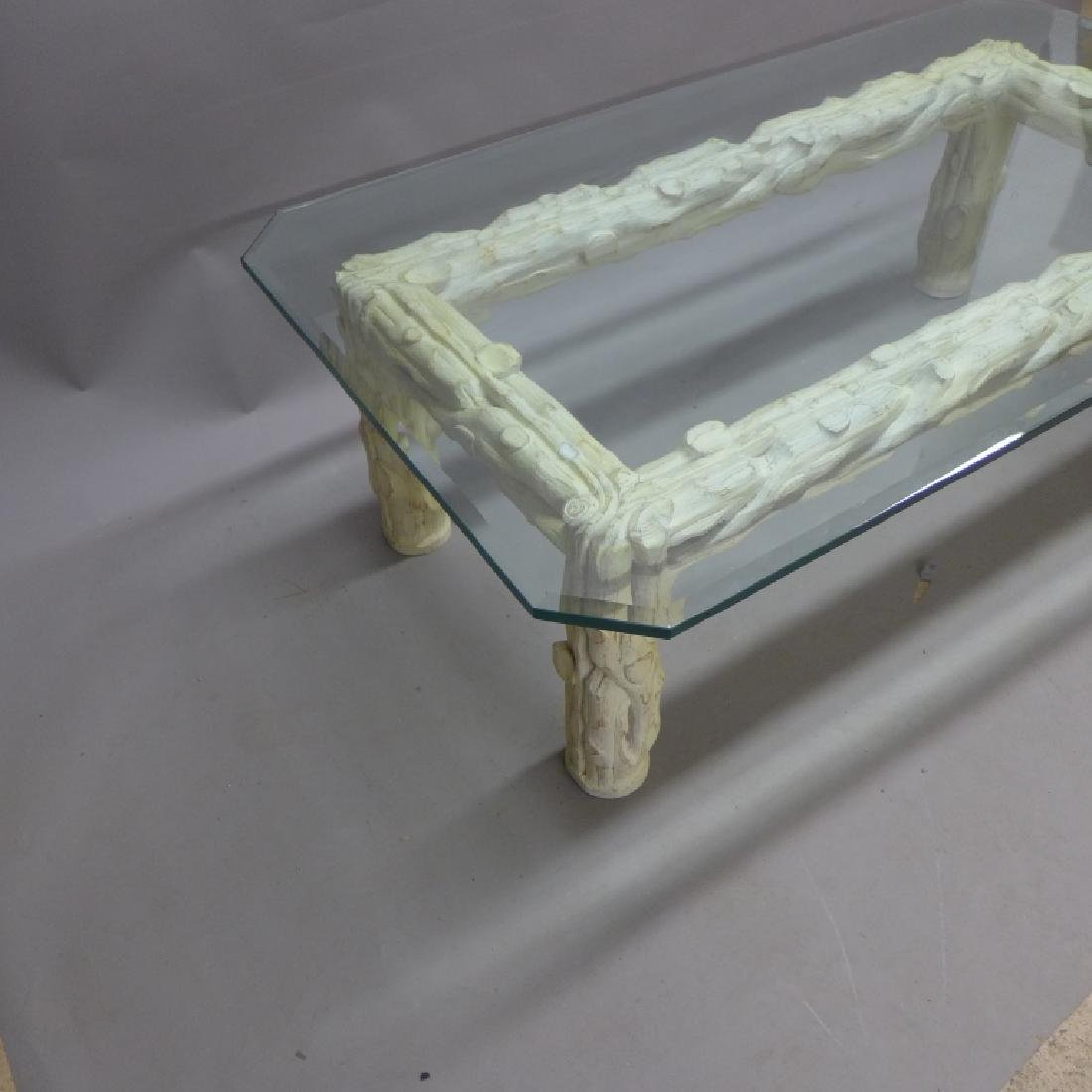 Glass Top Tree Form Coffee Table - 5