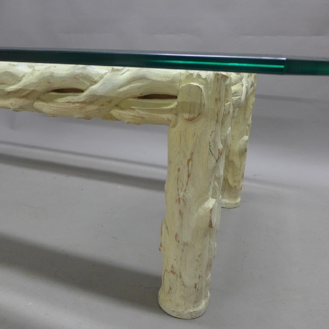 Glass Top Tree Form Coffee Table - 6