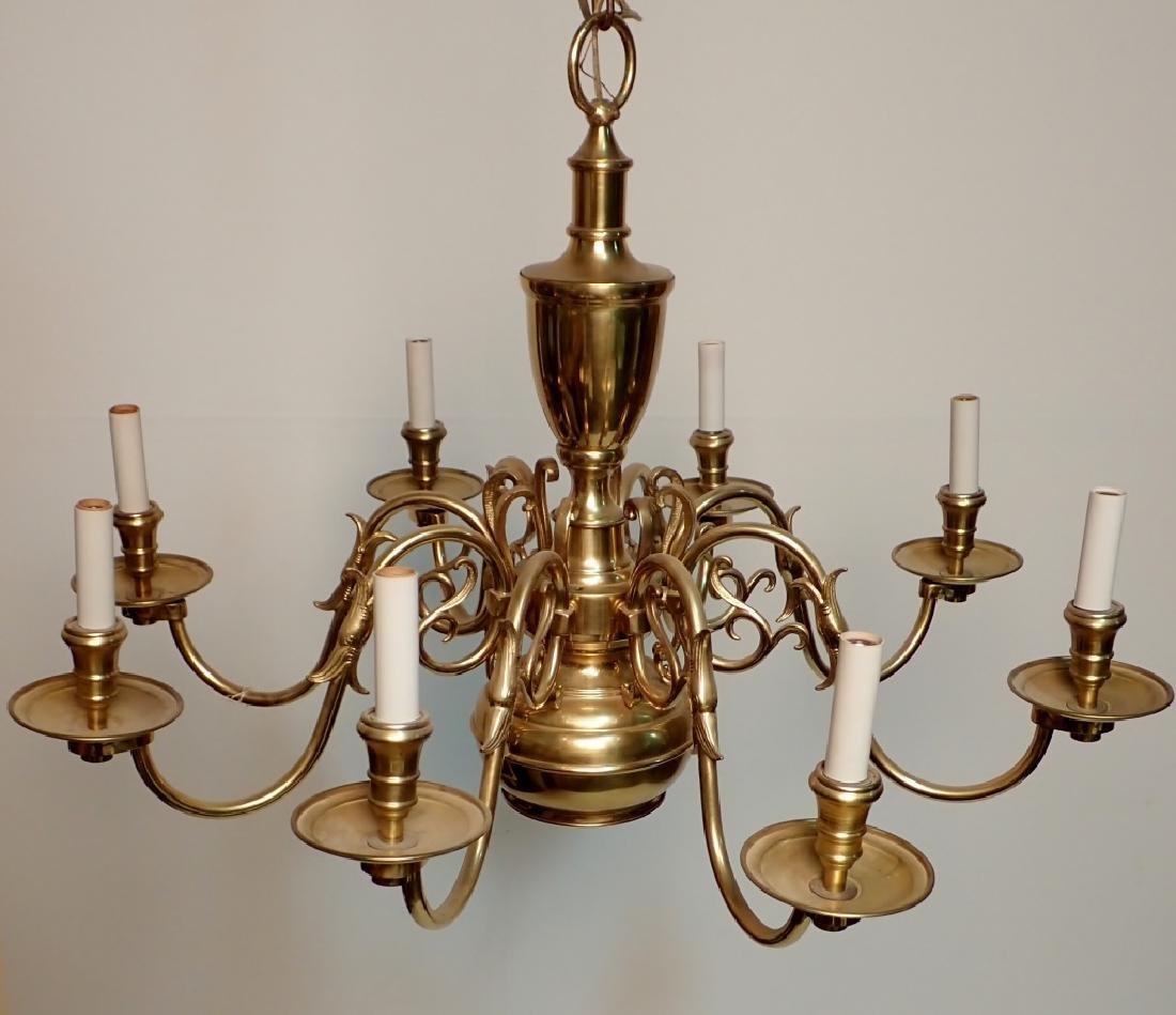 8 Arm Brass Chandelier