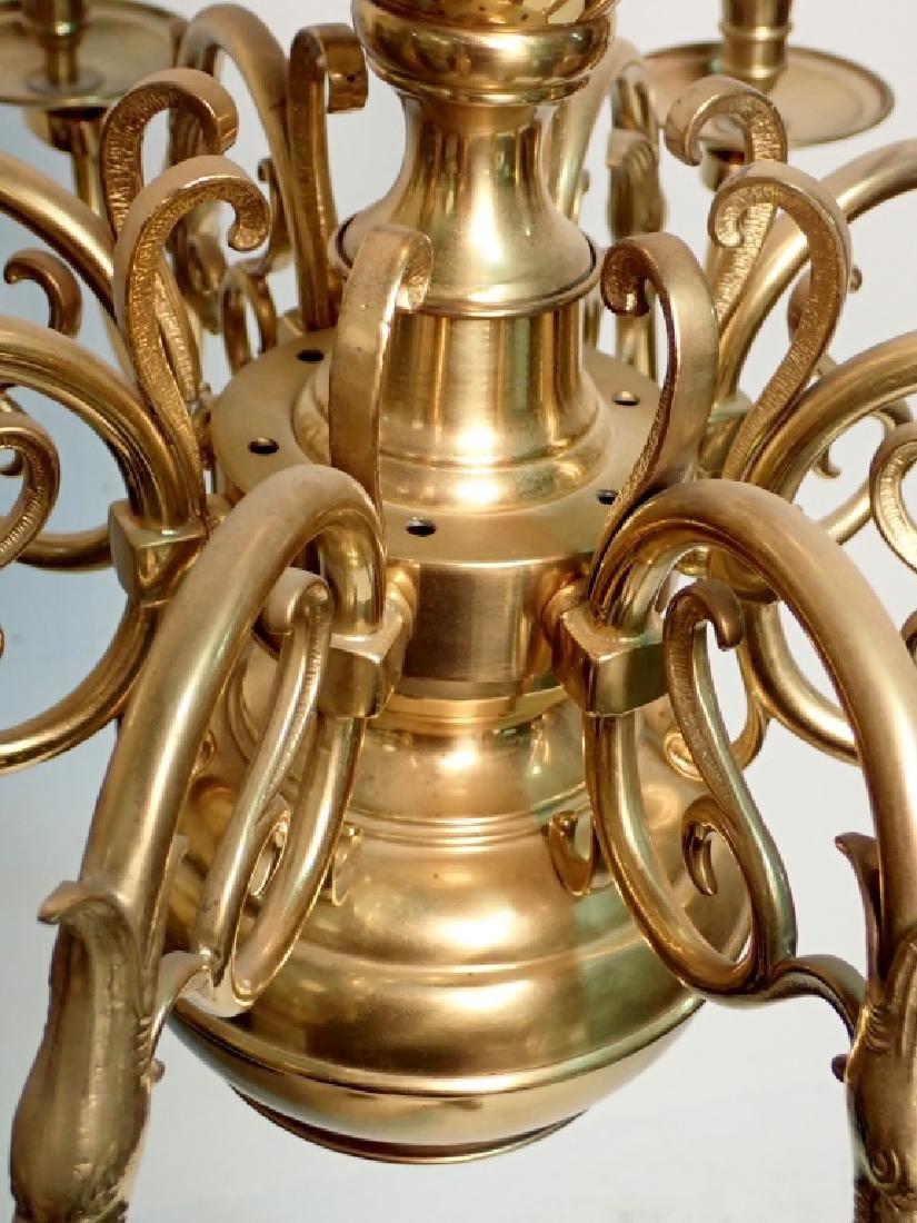8 Arm Brass Chandelier - 3