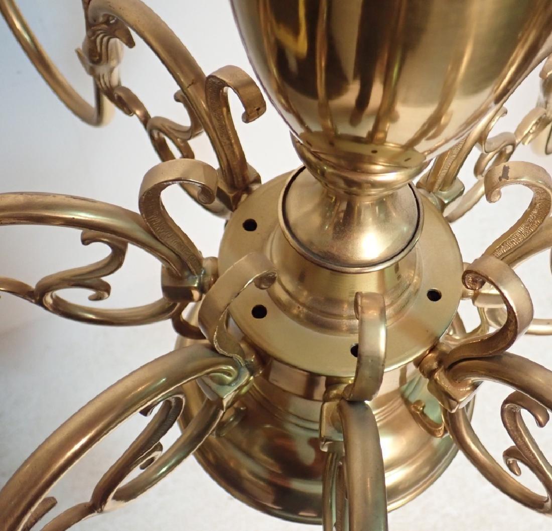 8 Arm Brass Chandelier - 4