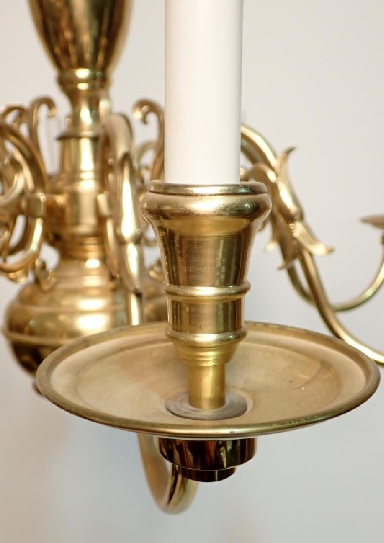 8 Arm Brass Chandelier - 7
