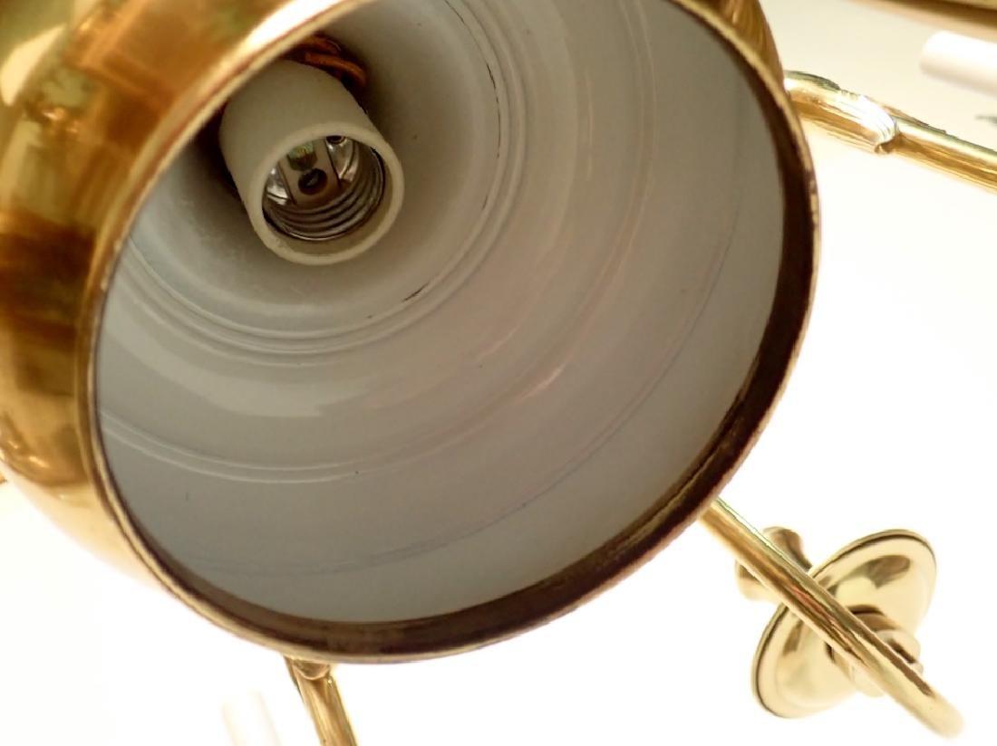 8 Arm Brass Chandelier - 9