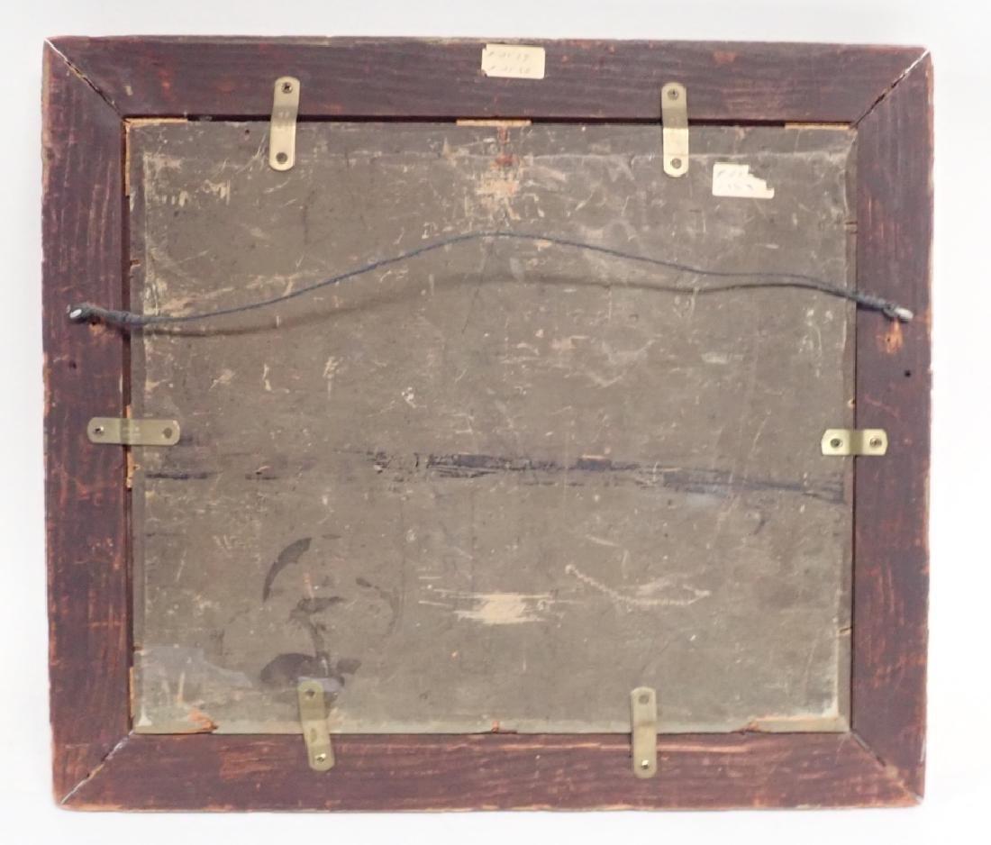 Primitive Marinescape Oil on Board, 19th Century - 10