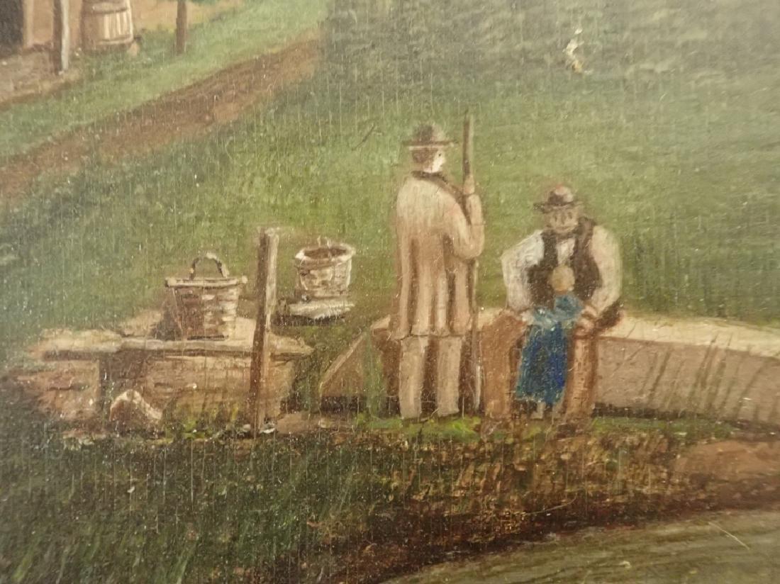Primitive Marinescape Oil on Board, 19th Century - 4